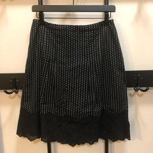 Ann Taylor Petite Cotton A-line Skirt